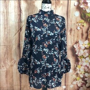 Easel | boho floral tunic/dress size small
